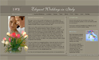 weddings in Italy: Main Page Screenshot